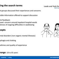 Research about the experience of meal times on acute mental health wards.